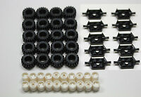 ☀️new Lego Bulk Lot Of Wheels Tires Axles 50 Pieces