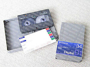 MAKE-OFFER-Sony-D1M-34A-D1-digital-video-cassette-LOT-OF-2-NEW