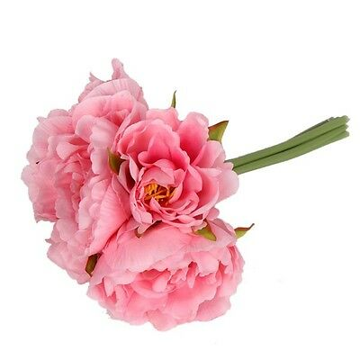 1*Bouquet Showy Artificial Peony Silk Flowers Home Arts Wedding Party Decoration