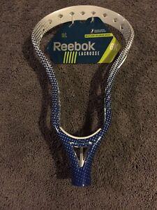 NEW Reebok Lacrosse 6K HEAD Is UnStrung Blue & White Free Shipping