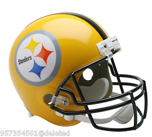 8ba110aa Details about PITTSBURGH STEELERS NEW GOLD FULL SIZE FOOTBALL HELMET