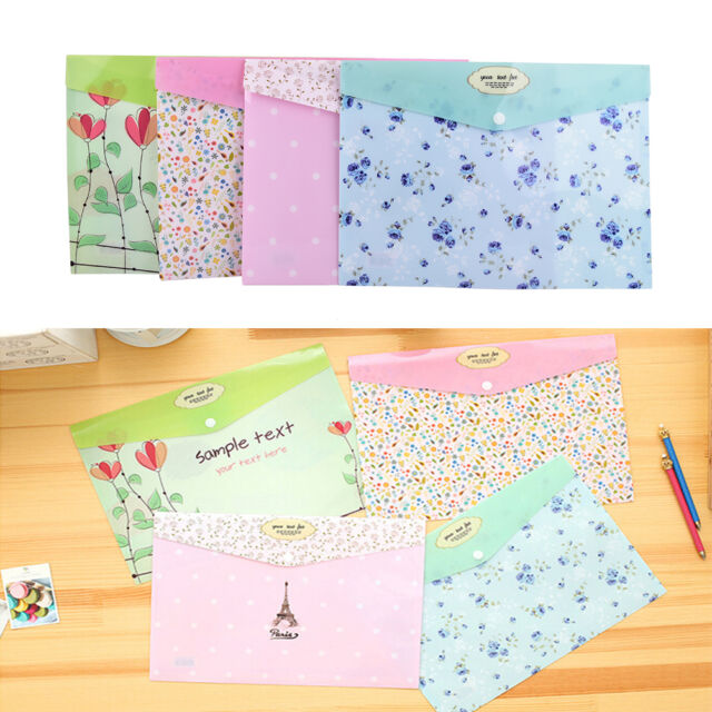 A4 PVC Bag Document Paper School Office Supplies File Folder Stationery.LD
