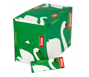Full-Box-100-Booklets-of-Swan-Green-Corner-Cut-Cigarette-Rolling-Papers