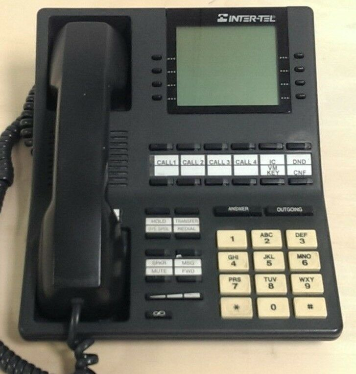 Lot of 7- Inter-tel 550.4500 Axess Executive Digital Display Phones
