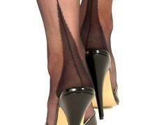 GIO Nylons Nahtnylons Nylonstrümpfe Strapse 11 XL schwarz black POINT heel