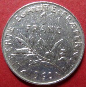 FRANCE-Vintage-1960-1-FRANC-COIN-Republique-Francaise-NICE-Pre-EURO-COIN