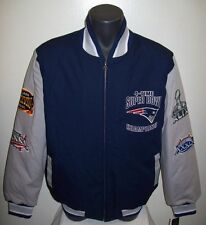 NEW ENGLAND PATRIOTS 4 TIME Super Bowl Championship Cotton Twill Jacket MEDIUM