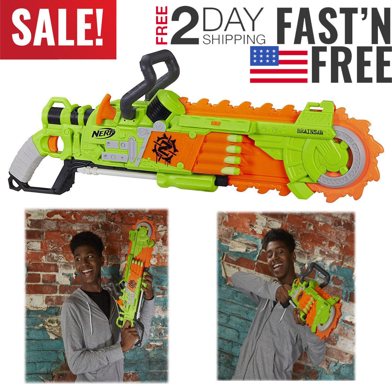 Nerf Chainsaw Gun Zombie Strike Brainsaw Brainsaw Brainsaw Dart Blaster Fun Kids Toy Boys Cool Saw d2ac31