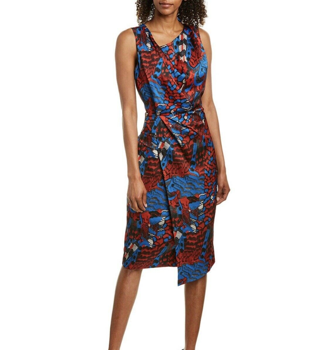 Reiss Diona Feather Print Dress MSRP  370 US Size 0
