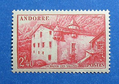Stamps Imported From Abroad 1944 Andorra French 2fr40c Scott# 89 Michel # 107 Unused Cs27721 Elegant And Sturdy Package