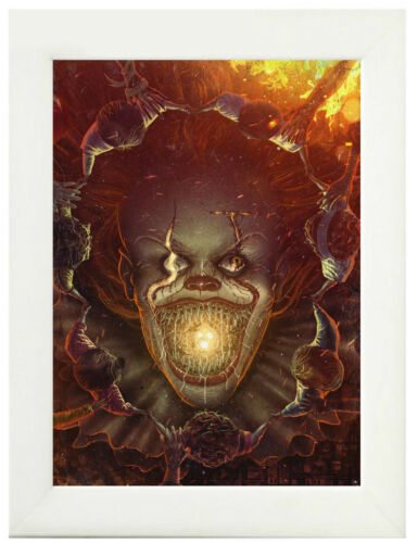 A3 A4 Sizes Framed Option IT Clown Pennywise Poster or Canvas Art Print