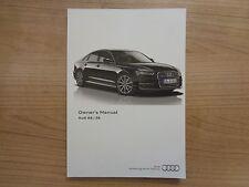 Audi A6/S6 Owners Handbook/Manual 14-17
