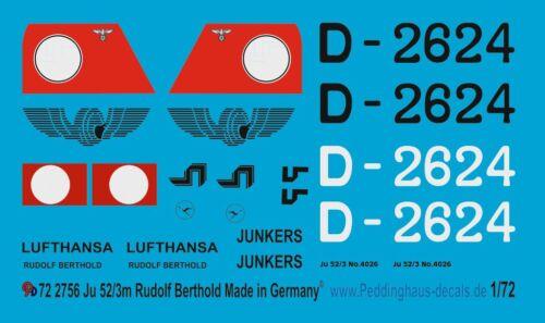 1//72 ep 2756 Ju 52//3m Rudolf Berthold