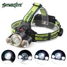 30000LM LED Headlight Flashlight Torch 3x XM-L T6 Headlamp Head Light Lamp