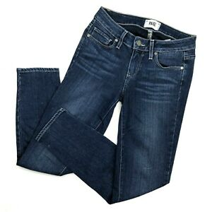 Paige-womens-Jeans-Skinny-Verdugo-Ankle-Crop-size-25-Mid-Rise-Stretch-Dark-Denim