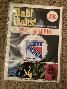 1969 New York Rangers pins.  Lot of two(2). Mint in package!
