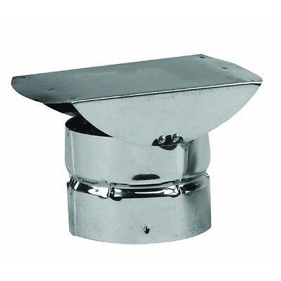 "3"" Stainless Steel Type L Pellet Stove Pipe Horizontal Termination Cap 3VP-HC"