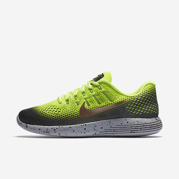 NIKE MEN LUNARGLIDE 8 SHIELD RUNNING SHOE VOLT 849568-700 US7-11 11'