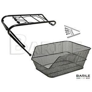 cestino posteriore rettangolare doppia maglia nero RMS portapacchi bici