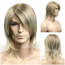 Wig Gentlemen's wig Male star Bright blond hair Blond hair wig mixed