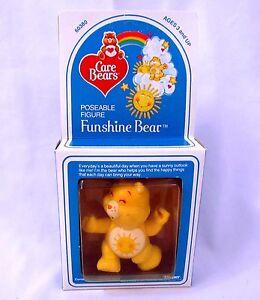 Vintage 1982 Care Bears FUNSHINE BEAR #60380 Poseable Figure NEW SEALED Kenner