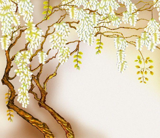3D Blooming Tree 618 WallPaper Murals Wall Print Decal Wall Deco AJ WALLPAPER
