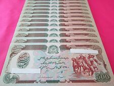 Afghanistan Paper Money Currency Banknotes 10 PCS Uncirculated 500 Afghani Each