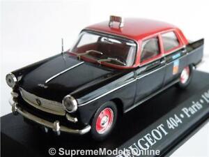 PEUGEOT-404-PARIS-TAXI-1962-MODEL-CAR-1-43RD-SCALE-RED-BLACK-EXAMPLE-T3412Z