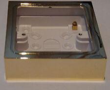 YBS.B Varilight 1 Gang (Single), Patress Wall Box (for surface mounting) Brass