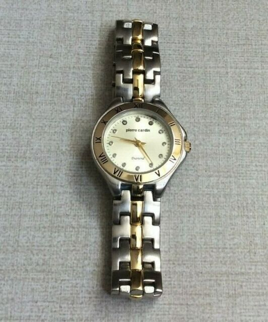 Pierre Cardin Two Tone Diamond Women S Watch Easy Read Dial Pcd4031c Brand For Sale Online Ebay