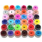 36 Pure Colors Pots Shiny Cover UV Builder Gel Nail Art Tips Extension Decor Kit