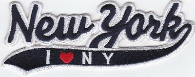 """3 Pcs New Apple York //I Love NY Embroidered Patches 2.5/""""x5/"""" iron-on"""