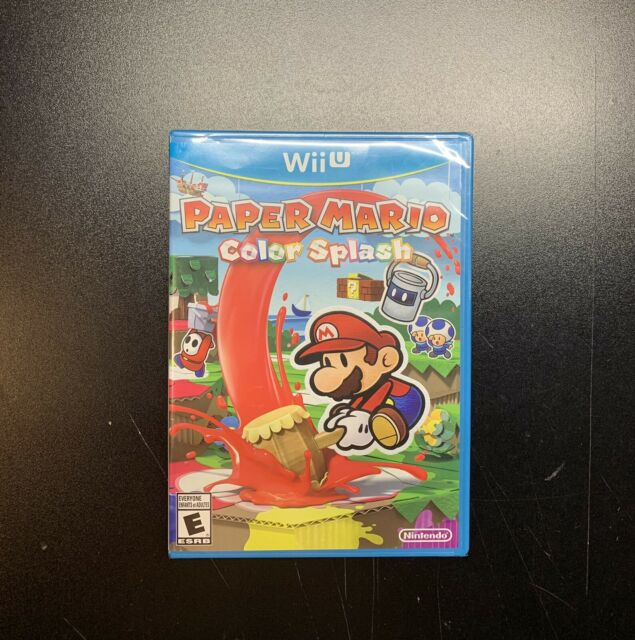 Paper Mario Color Splash Nintendo Wii U NEW Factory Sealed