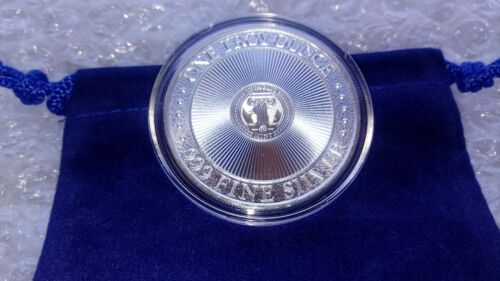 1 Ounce Fine Silver .999  MERMAID Folklore Round with Capsule /& Ocean Blue Pouch