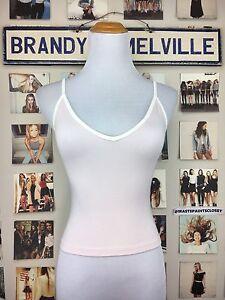 0a16370dce45e Brandy melville Soft Light Pink White Trim V-neck Joanne Cropped ...