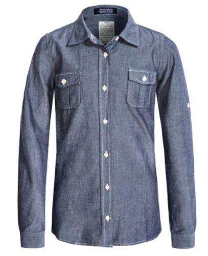 JACHS Girls Blue Cotton L//S SHIRT Sizes M L XL NWT