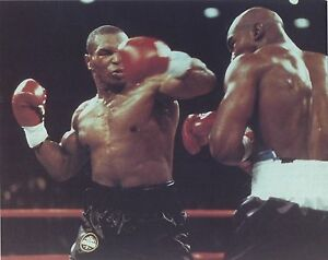 MIKE TYSON vs EVANDER HOLYFIELD 8X10 PHOTO BOXING PICTURE RING ACTION