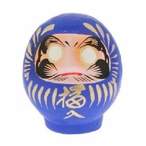 Japanese-3-75-034-H-Blue-Daruma-Doll-Good-Luck-Fortune-for-Achievement-Made-in-Japan