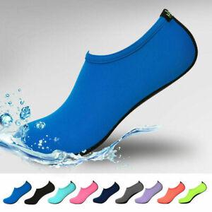 Unisex-Water-Shoes-Aqua-Yoga-Exercise-Casual-Sock-Pool-Beach-Swim-Slip-On-Surf