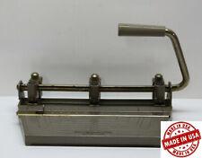 Vintage Boston Metal 3 Hole Punch Heavy Duty Adjustable Hole Position Industrial