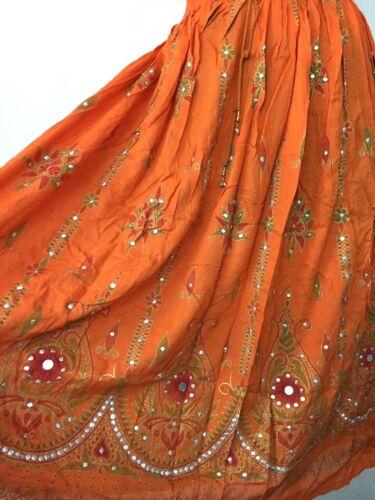 Skirt Waist Women Long Sequin Skirt Boho Bollywood Belly Dance Hippie Gypsy