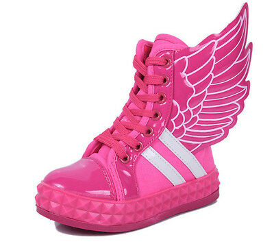 NEW Fashion Children Kid's Wings Sneakers Shoes Boots