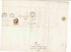 Spain 19th century imperf stamp cover  Ref: 8248