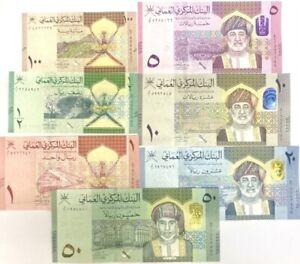 Oman Set 7 Pcs 100 Baisa 1/2 1 5 10 20 50 Rials 2020 / 2021 P New UNC