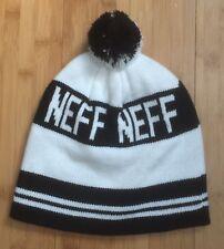 Classic Neff Black White Stripe One Size Winter Ski Pom Snowboard Beanie  Hat Cap 7d63f5b92fa0