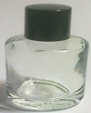 200,10ml CLEAR GLASS BOTTLES+BLACK CAPS>GREAT 4 OILS>AMAZING VALUE 13pence+VAT