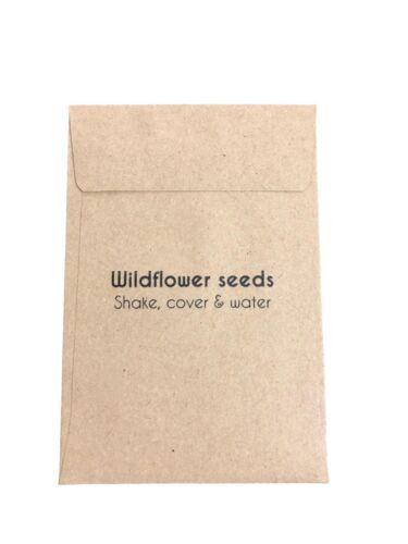 10 x Wildflower Semences mariage faveurs-Personnalisé Eco Friendly Let Love Grow