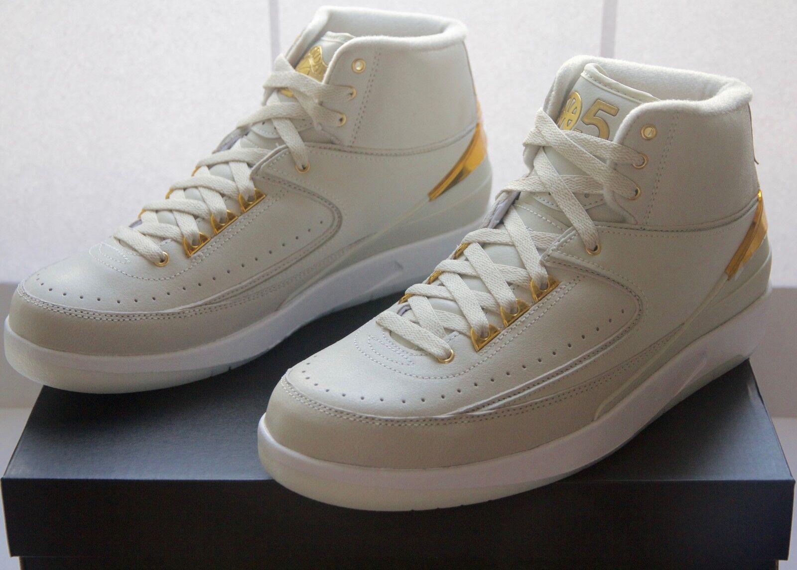 Nike Air oro Jordan II 2 retro quai 54 Bone oro Air nuevo cartón New 028f70