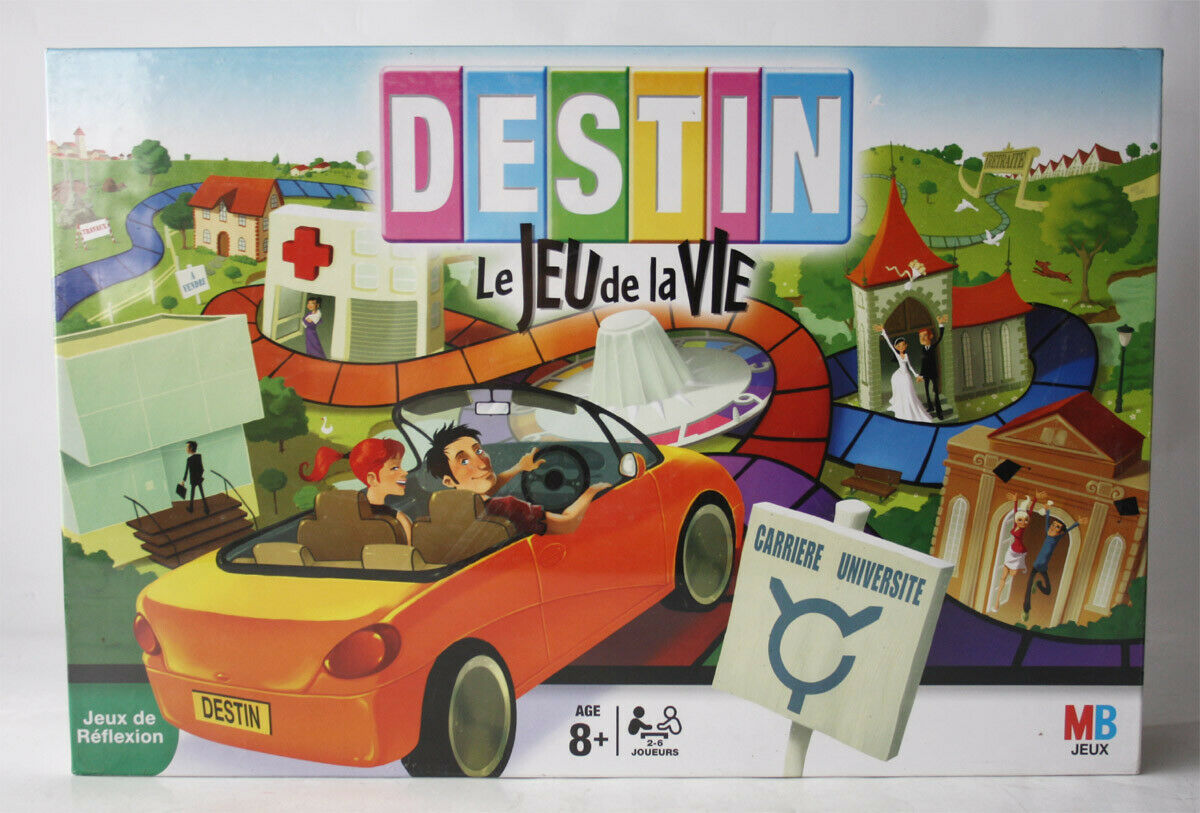 RARE 2008 GAME OF LIFE BOARD GAME FRENCH EDITION HASBRO NEW SEALED
