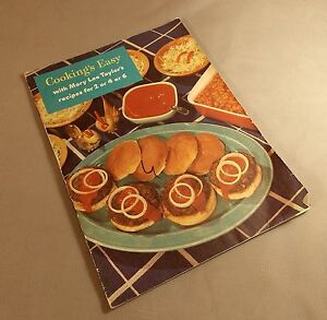 Cookings Easy Mary Lee Taylor Recipes for 2 4 6 Booklet